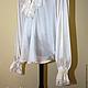 Wedding men's shirt with frill