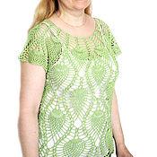Одежда ручной работы. Ярмарка Мастеров - ручная работа Топ крючком Зеленое яблоко greenery. Handmade.