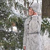 """Одежда ручной работы. Ярмарка Мастеров - ручная работа Валяное пальто """"Питер в тумане"""". Handmade."""