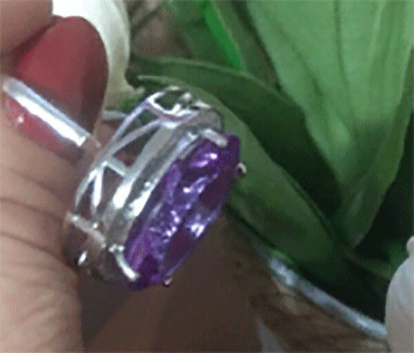 Винтаж: Кольцо из стерлингового серебра 925 с Градиентом Кунцитом, Кольца винтажные, Москва,  Фото №1