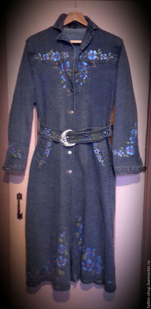 Верхняя одежда ручной работы. Ярмарка Мастеров - ручная работа. Купить Роспись акрилом по верхней одежде,  джинсам, тканям, коже. Handmade.