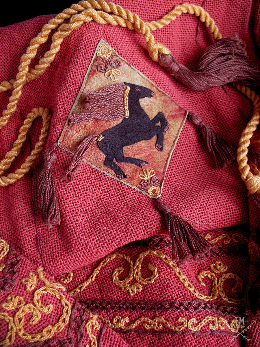 Tunic Aran Tambour Embroidery Cords Appliques Handmade Shop