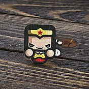Украшения handmade. Livemaster - original item Wooden icon Wonder Woman. Handmade.
