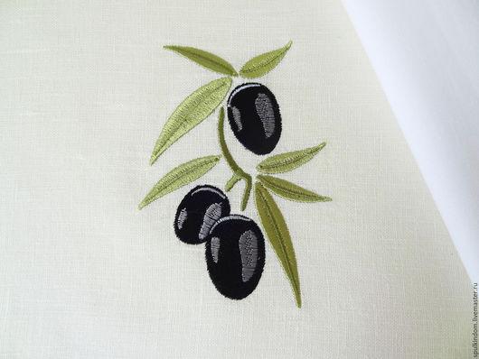 Льняной мешочек с вышивкой `Оливки`  `Шпулькин дом` мастерская вышивки