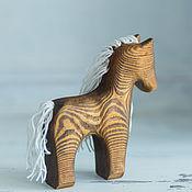 Мягкие игрушки ручной работы. Ярмарка Мастеров - ручная работа Деревянная лошадка. Handmade.