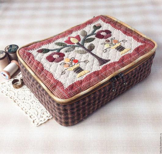 Шкатулки ручной работы. Ярмарка Мастеров - ручная работа. Купить Шкатулка для рукоделия. Handmade. Комбинированный, шкатулка для рукоделия, японский пэчворк