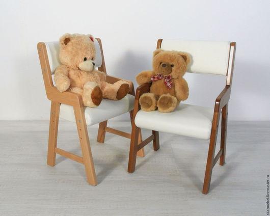 Мебель ручной работы. Ярмарка Мастеров - ручная работа. Купить Стульчик детский Альмо миди белый. Handmade. растущий стул
