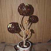 Подарки к праздникам ручной работы. Ярмарка Мастеров - ручная работа Кофейное дерево (топиарий). Handmade.