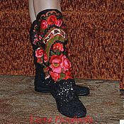 """Обувь ручной работы. Ярмарка Мастеров - ручная работа сапожки летние """"Виктория"""". Handmade."""