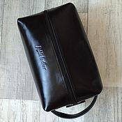Сумки и аксессуары handmade. Livemaster - original item Leather travel bag. Very large cosmetic bag. Handmade.