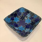 """Посуда ручной работы. Ярмарка Мастеров - ручная работа """"Звездная ночь"""" тарелочка керамическая ручной работы. Handmade."""