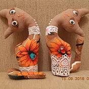Мягкие игрушки ручной работы. Ярмарка Мастеров - ручная работа котята-пара. Handmade.