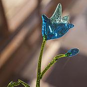 Для дома и интерьера ручной работы. Ярмарка Мастеров - ручная работа Цветок Колокольчик из стекла фьюзинг. Handmade.