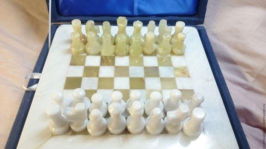 Винтажные сувениры. Ярмарка Мастеров - ручная работа. Купить Винтажные шахматы из оникса. Handmade. Комбинированный, оникс натуральный, оникс зелёный
