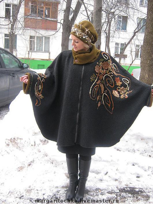 """Верхняя одежда ручной работы. Ярмарка Мастеров - ручная работа. Купить Пальто-пончо """"Очей очарованье"""" с вышивкой. Handmade."""