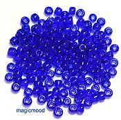 Материалы для творчества handmade. Livemaster - original item 10 grams 6/0 Toho 8 Japanese TOHO beads transparent cobalt. Handmade.