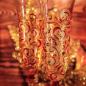"""Свадебный салон ручной работы. Ярмарка Мастеров - ручная работа Бокалы свадебные - """"Для королей и королев"""". Handmade."""