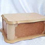 Материалы для творчества handmade. Livemaster - original item Large MDF casket, for painting and decoration. Handmade.