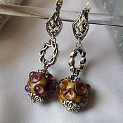 Украшения handmade. Livemaster - original item Earrings lampwork organic style. Handmade.