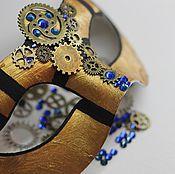 """Одежда ручной работы. Ярмарка Мастеров - ручная работа Синяя карнавальная маска """"Время назад"""". Handmade."""