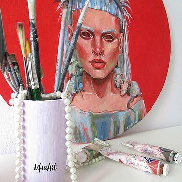 Картины и панно ручной работы. Ярмарка Мастеров - ручная работа Йоланди Фиссер картина маслом. Handmade.