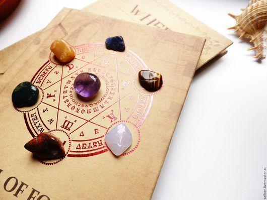 Медитация ручной работы. Ярмарка Мастеров - ручная работа. Купить Малый чакровый набор 7 камней самоцветов. Handmade. Комбинированный