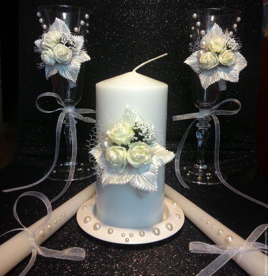 Свадебные бокалы + Семейный очаг (набор)