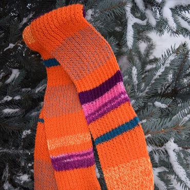Аксессуары ручной работы. Ярмарка Мастеров - ручная работа Яркий длинный шарф. Handmade.