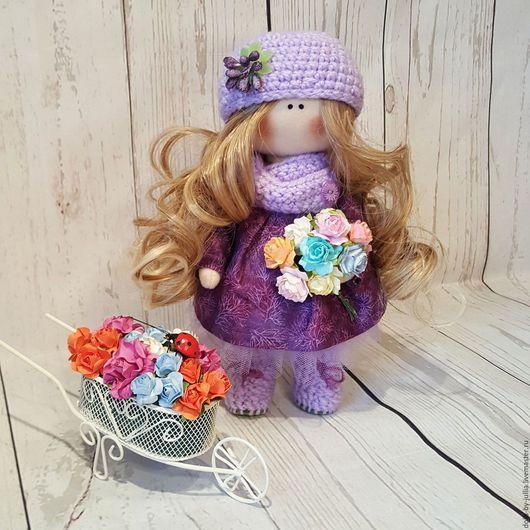 Человечки ручной работы. Ярмарка Мастеров - ручная работа. Купить Текстильная кукла ручной работы. Handmade. Фиолетовый, кукла