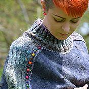"""Одежда ручной работы. Ярмарка Мастеров - ручная работа Авторский кейп-кокон """"Rainbow drops"""". Handmade."""