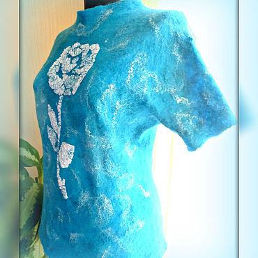 Clothing handmade. Livemaster - original item Jackets: felted blouse with rose.. Handmade.