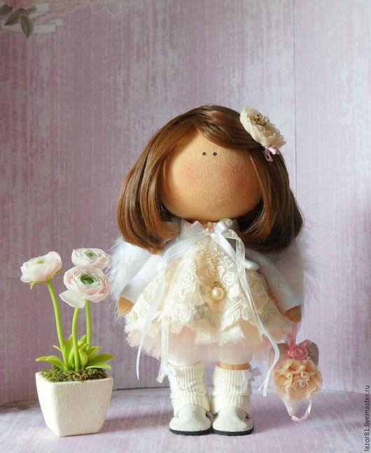 Коллекционные куклы ручной работы. Ярмарка Мастеров - ручная работа. Купить Ангелок. Handmade. Бежевый, кукла Тильда, интересный подарок