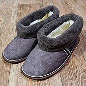 handmade. Livemaster - original item Slippers made of natural high-quality sheepskin. Handmade.