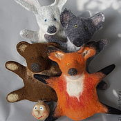 Куклы и игрушки ручной работы. Ярмарка Мастеров - ручная работа Колобок. Перчаточная кукла из сказки.. Handmade.