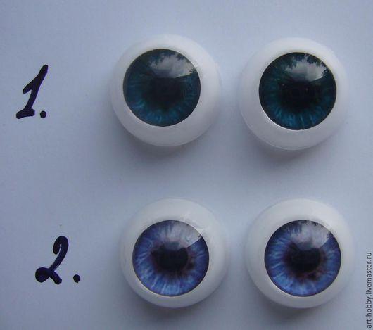 Куклы и игрушки ручной работы. Ярмарка Мастеров - ручная работа. Купить Глаза 14 мм. Handmade. Голубой