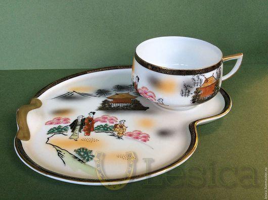 Винтажная посуда. Ярмарка Мастеров - ручная работа. Купить Чайная пара Kutani Япония. Handmade. Eggshell, kutani, комбинированный