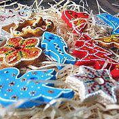Подарки к праздникам ручной работы. Ярмарка Мастеров - ручная работа Набор елочных игрушек Из детства (микс). Handmade.