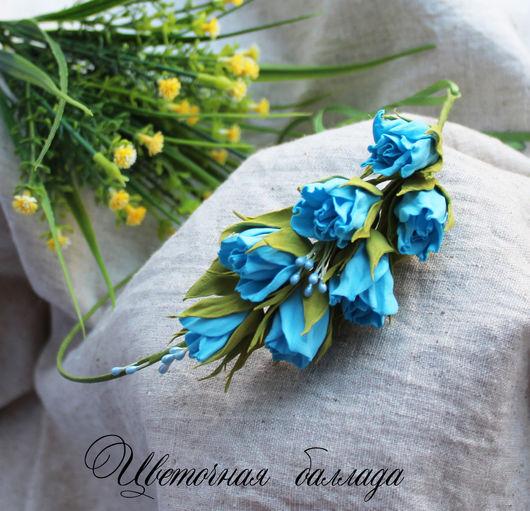 """Диадемы, обручи ручной работы. Ярмарка Мастеров - ручная работа. Купить Венок """"Марина"""". Handmade. Голубой, венок для волос"""