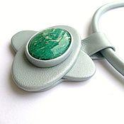 Украшения handmade. Livemaster - original item Pendant made of leather and amazonite Rings of Saturn. Handmade.