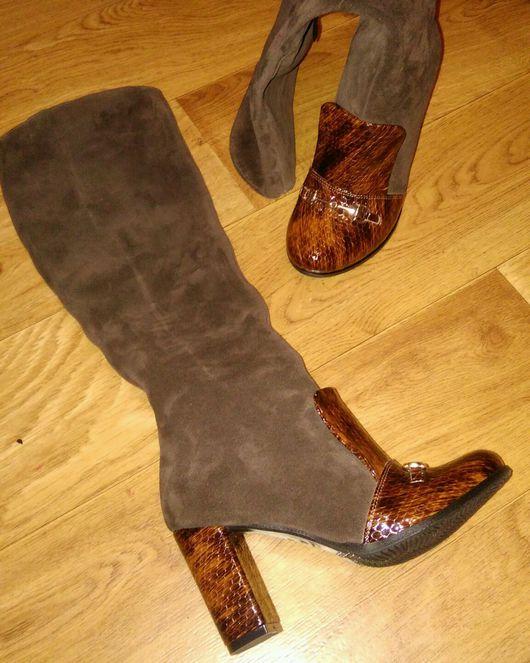 Обувь ручной работы. Ярмарка Мастеров - ручная работа. Купить Сапожки в стиле гуччи. Handmade. Хендмейд, гуччи