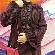 Одежда ручной работы. Ярмарка Мастеров - ручная работа Пальто цвета Вина. Handmade.