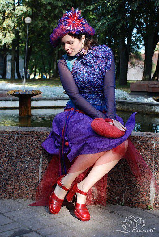 """Жилеты ручной работы. Ярмарка Мастеров - ручная работа. Купить Кофточка """"Lady Red-Purple-Blue"""". Handmade. Мери поппинс"""