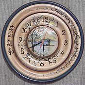 Для дома и интерьера handmade. Livemaster - original item Japanese style clock peace of mind. Handmade.