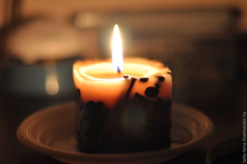 Свечи из кофе и корицы