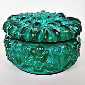 Винтаж handmade. Livemaster - original item Jewelry box malachite glass Czechoslovakia 70 years. Handmade.