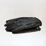 Аксессуары handmade. Livemaster - original item Gloves of crocodile leather CHEVALIER. Handmade.