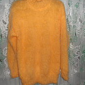 Одежда handmade. Livemaster - original item fluffy pullover yellow. Handmade.