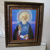 Картины и панно handmade. Livemaster - original item Icon of St. Sergius of Radonezh. Handmade.