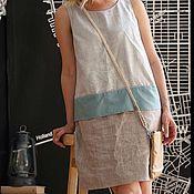 Одежда ручной работы. Ярмарка Мастеров - ручная работа Платье льняное Луна. Handmade.