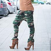 Одежда handmade. Livemaster - original item Camouflage cotton pants - PA0747W2. Handmade.